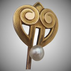 14k Art Deco Stickpin