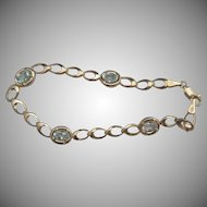 14k Aquamarine Bracelet