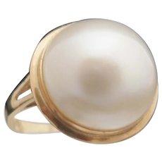 14k Mabe Pearl Ring