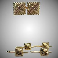 Midas envy. 14k Cuff Links, 18K Studs