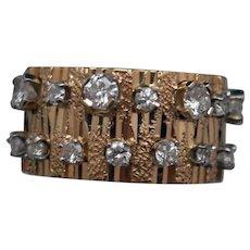 Diamond Ring in Textured 14k