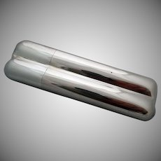 Sterling Silver Double Cigar Tube