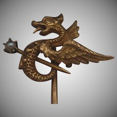 14k Winged Sea Serpent Stickpin