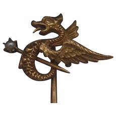 14k Winged Sea Serpent Stickpin