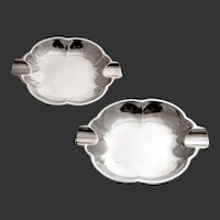 Camusso Sterling Cigar Ashtrays