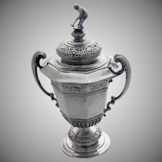 Edwardian Sterling Silver Golf Trophy & Cover