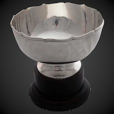 Japanese Sterling Trophy Bowl with Fitted Case