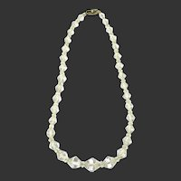 Deco Crystal Necklace with 14k Clasp
