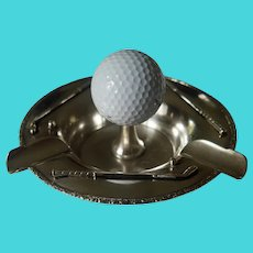 "Sterling Silver ""Hole in One"" Golf Ashtray"