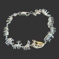 Sterling 14k Noah's Ark Bracelet