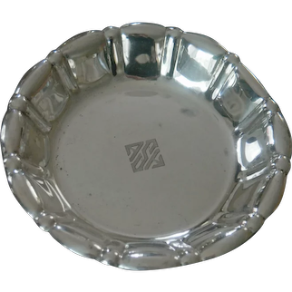 Frank  W. Smith Sterling Footed Bowl/Compote
