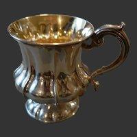 William IV Sterling Baluster Fluted Form Christening Mug