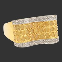 14k Yellow and White Diamond Ring