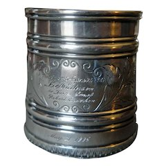 Historic Christening/Mourning Cup  by R. & W. Wilson/Philadelphia