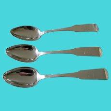 American Coin Silver Serving Spoons Circa 1820-1830
