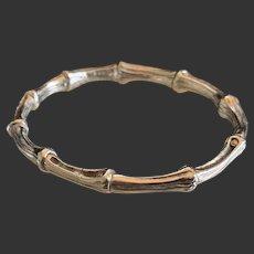 Tiffany Sterling Bamboo Bangle Bracelet - 1996