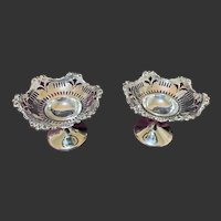 Pair of Individual Sterling Footed Nut Cups