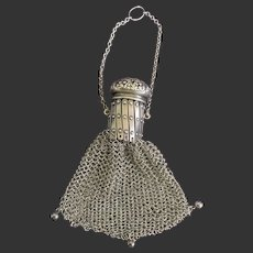 """Sterling """"Twist"""" Chatelaine Coin Purse"""