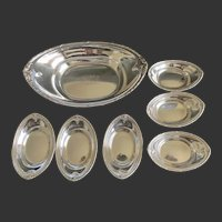 Dominick and Haff Sterling Candy/Nut Bowl with 6 matching cups