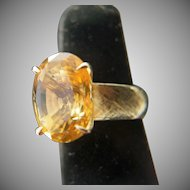 In the mood. 14k Citrine Ring