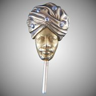 Point well-taken. 14k Diamond Blackamoor Stickpin
