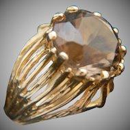 Utterly divine. 14k Cognac Topaz Ring