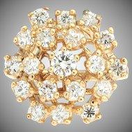 Dazzling inspiration. 14k Diamond Cocktail Ring