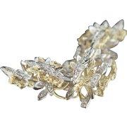 Glittering presence. 18k Diamond Brooch