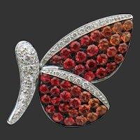Butterfly, alight. 18k Sapphire & Diamond Pin