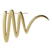 Tiffany & Co Paloma Picasso 1983 Large Scribble Zig Zag 18K Gold Pin