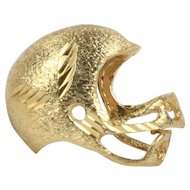 Vintage 14K Gold Football Helmet Athletic Tie Tack Lapel Pin