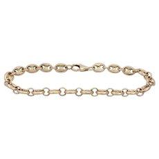 Vintage 14K Gold Mariner Gucci Link 7 Inch Bracelet
