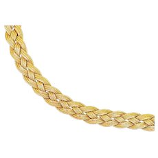 Victorian 14K Gold and Diamond Silky Braided Bracelet