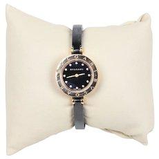 Bvlgari B Zero 1 Lady's 18K Rose Gold Diamond and Ceramic Watch