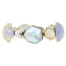 Ippolita 18K Yellow Gold Rock Candy Blue Topaz Quartz Bangle Bracelet