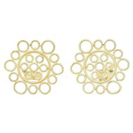 Buccellati Maria 18K Gold Medallion Clip Earrings