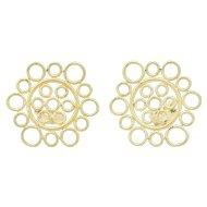 Buccellati Maria 18K Gold Medallion Clip Earrings