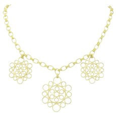 Buccellati Maria 18K Gold Medallion Necklace