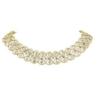 Buccellati Etoilee 18K Gold Woven Italian Choker Necklace