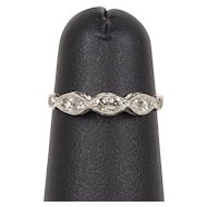 Art Deco Platinum and Diamond Band Stacking Ring