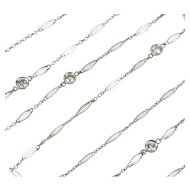 Art Deco Diamonds by the Yard 14K White Gold 27 Inch Chain Necklace