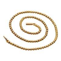 """Vintage 20K Gold Spiral Barrel Link Chain, 17"""" Long, 26.1 Gram Layering Necklace"""