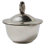 Vintage Tiffany & Co Sterling Silver Rose Bud Tipped Gold Wash Trinket Box
