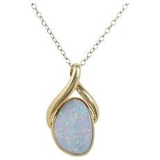 Australian Boulder Opal 14K Gold Free Form Pendant Charm