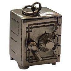 Vintage 14K Gold Articulated Safe Emergency Money Dollar Bill Charm
