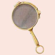 Art Deco 14K Gold Opera Glasses Lorgnette Magnifier Quizzer Pendant