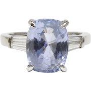 GIA Certified 8.32 Ct Natural Sapphire Diamond Platinum Alternative Engagement Ring