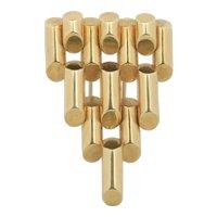 Vintage Tiffany & Co 14K Gold Tank Geometric Clip Brooch