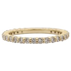 1 Carat Diamond and 14K Gold Size 7 Eternity Band Wedding Ring