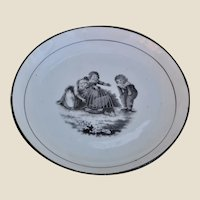 A large Adam Buck design English porcelain dish 1820s,